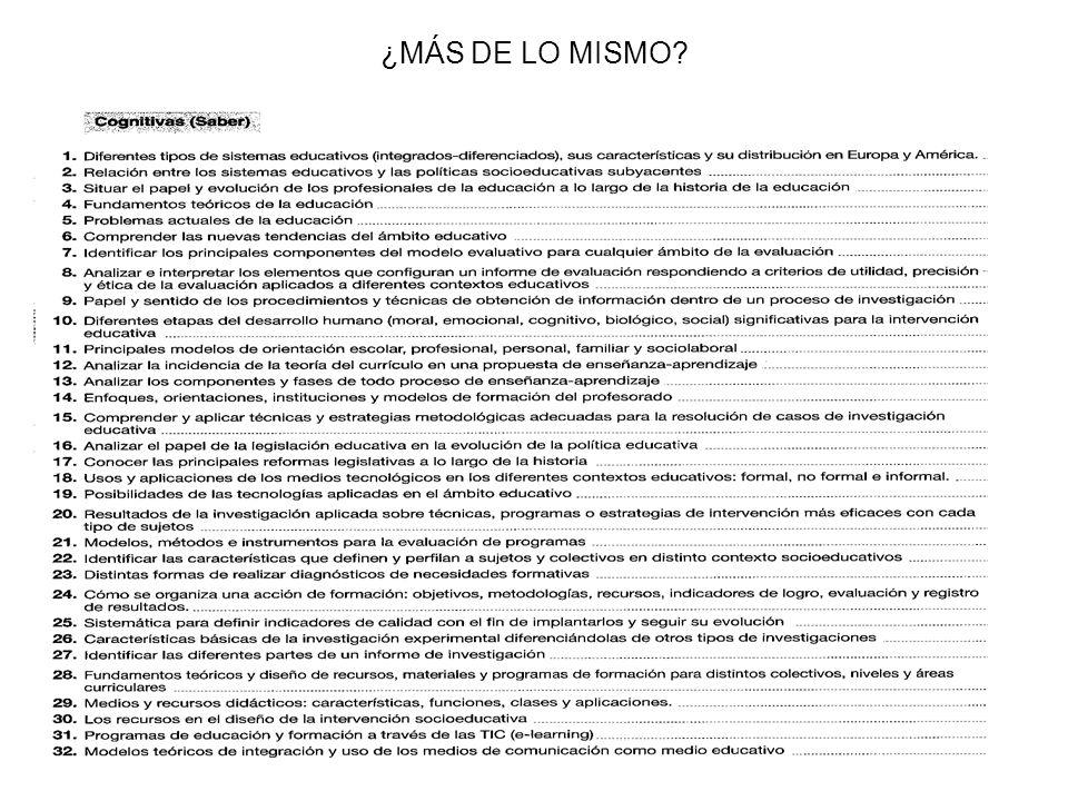 ¿MÁS DE LO MISMO