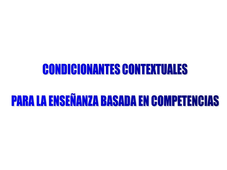 CONDICIONANTES CONTEXTUALES PARA LA ENSEÑANZA BASADA EN COMPETENCIAS