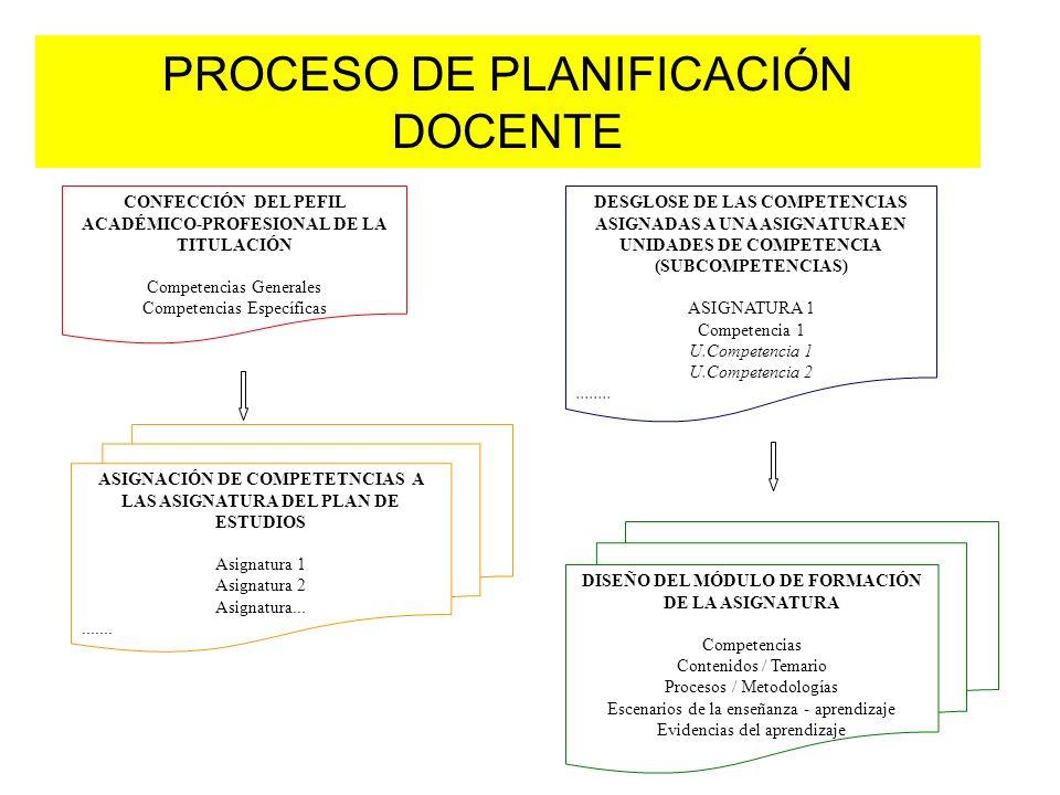 PROCESO DE PLANIFICACIÓN DOCENTE