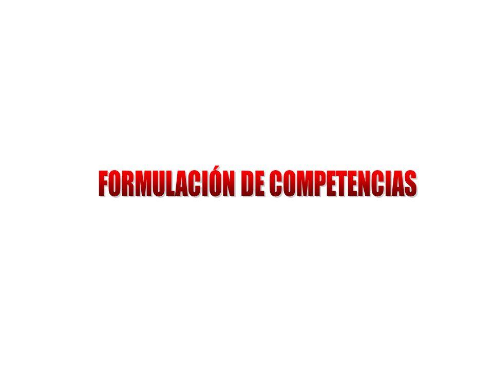 FORMULACIÓN DE COMPETENCIAS