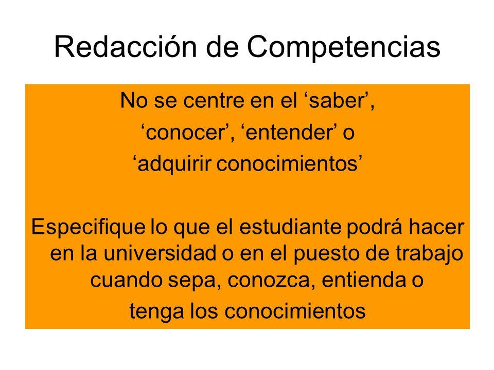 Redacción de Competencias
