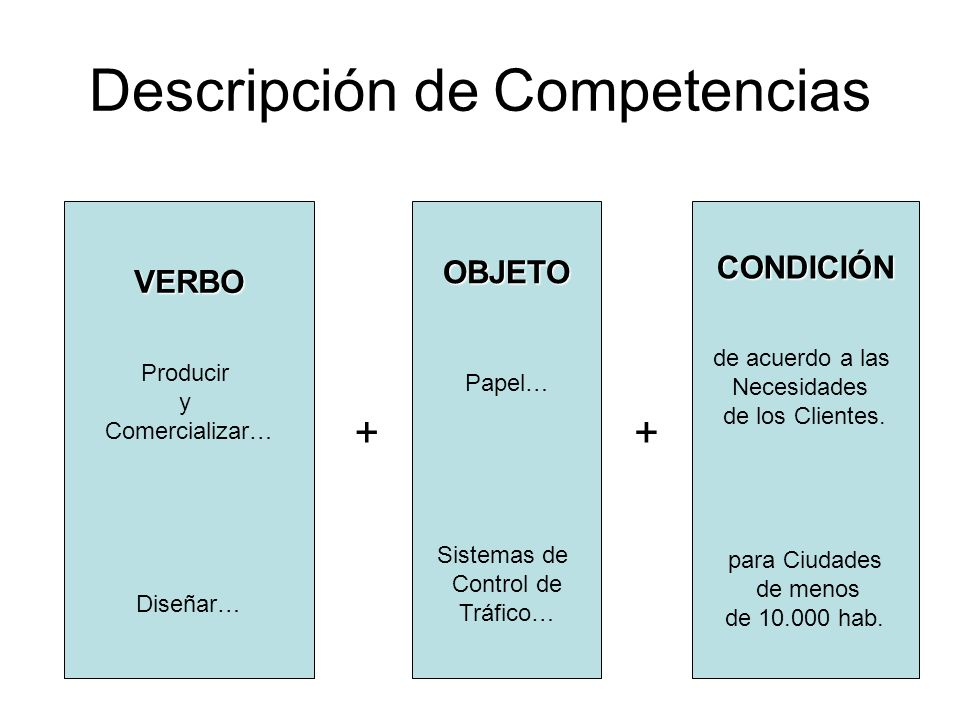 Descripción de Competencias