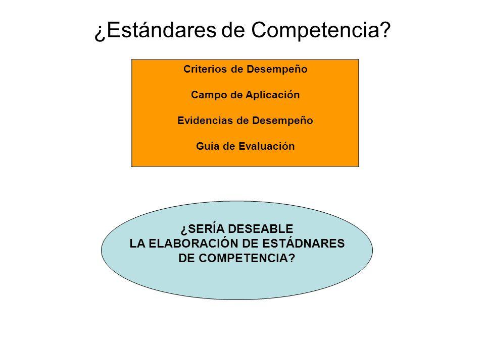 ¿Estándares de Competencia