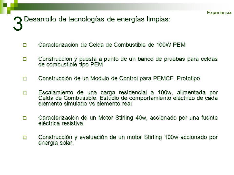 3 Desarrollo de tecnologías de energías limpias: