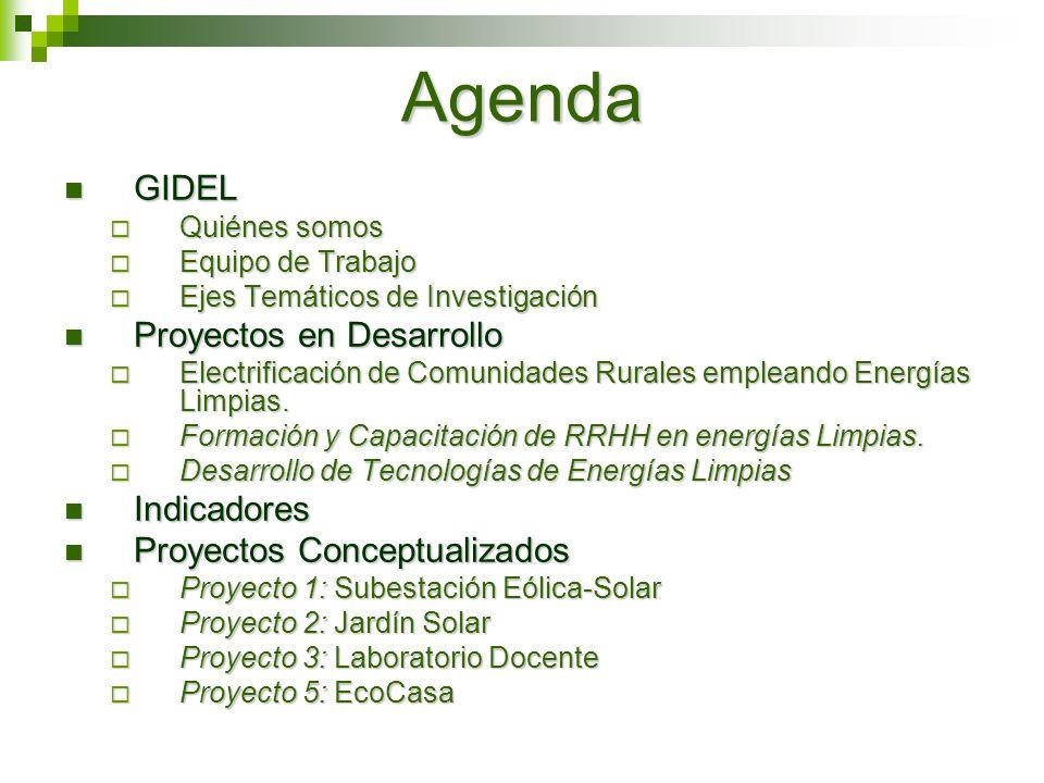 Agenda GIDEL Proyectos en Desarrollo Indicadores