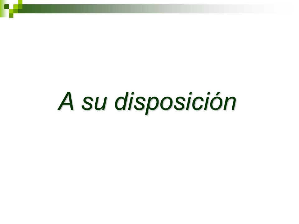 A su disposición 21