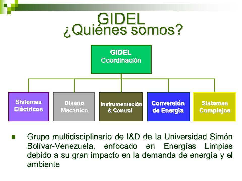 GIDEL ¿Quiénes somos Sistemas Eléctricos. Diseño Mecánico. Instrumentación. & Control. Conversión de Energía.