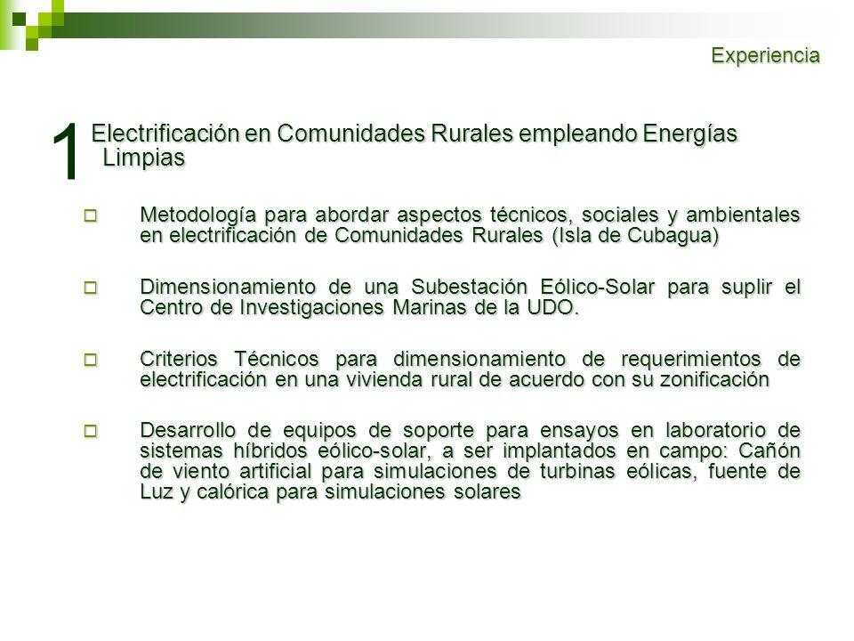 1 Electrificación en Comunidades Rurales empleando Energías Limpias