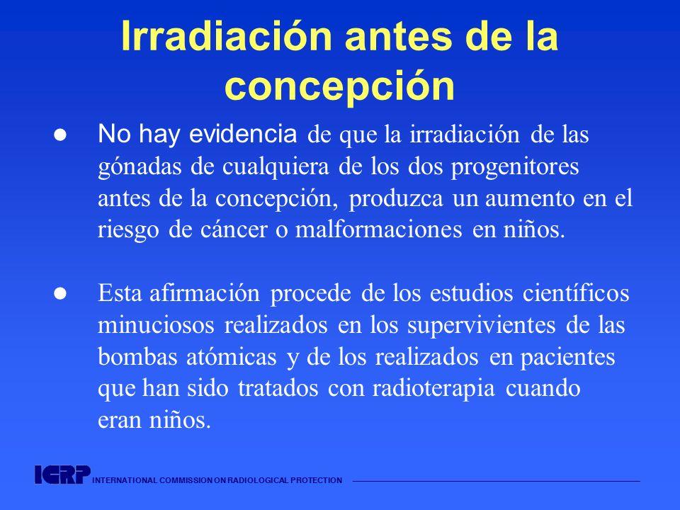 Irradiación antes de la concepción