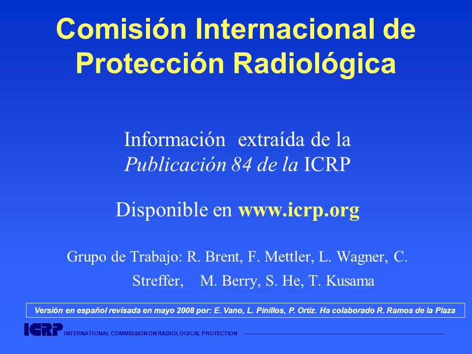 Comisión Internacional de Protección Radiológica