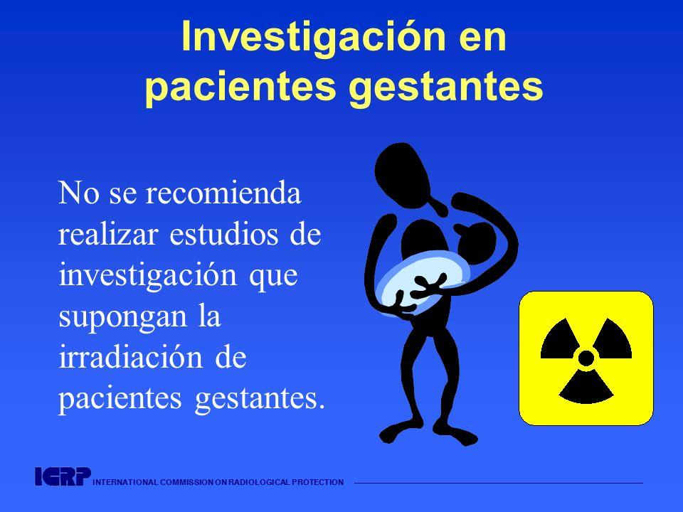 Investigación en pacientes gestantes
