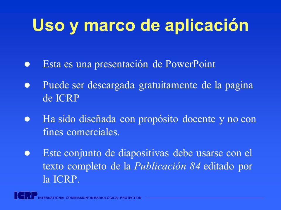 Uso y marco de aplicación