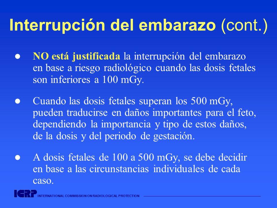 Interrupción del embarazo (cont.)