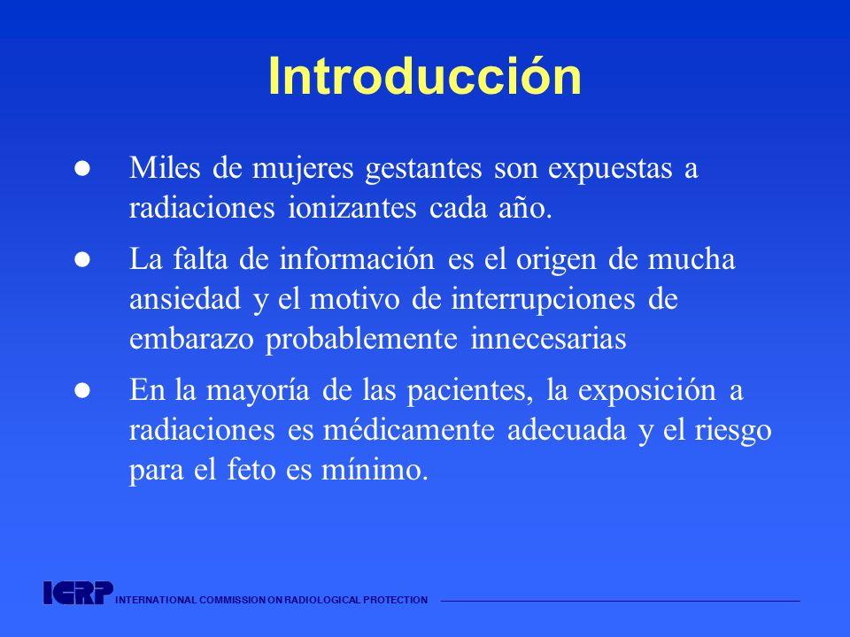 Introducción Miles de mujeres gestantes son expuestas a radiaciones ionizantes cada año.