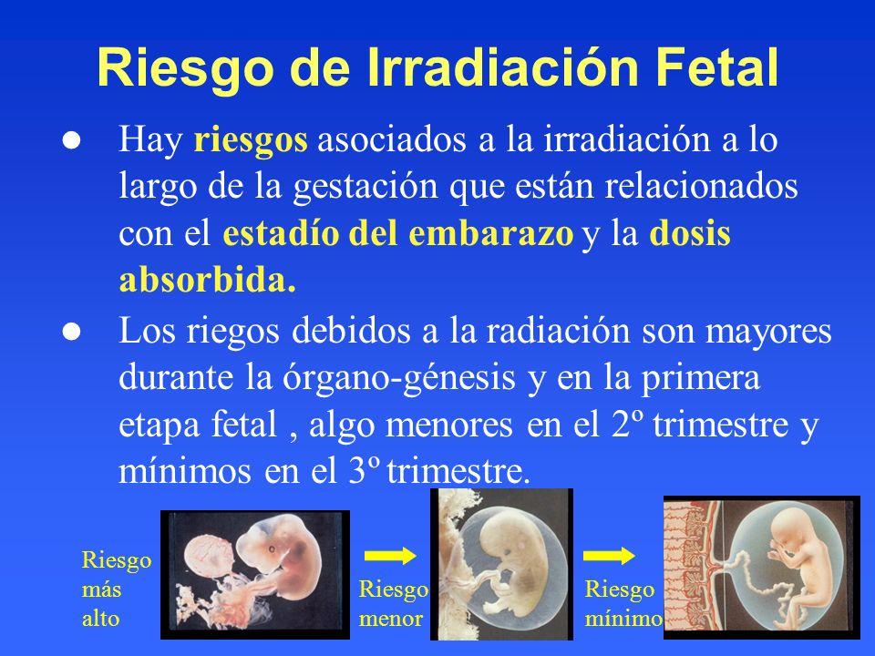 Riesgo de Irradiación Fetal