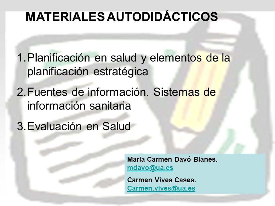 MATERIALES AUTODIDÁCTICOS