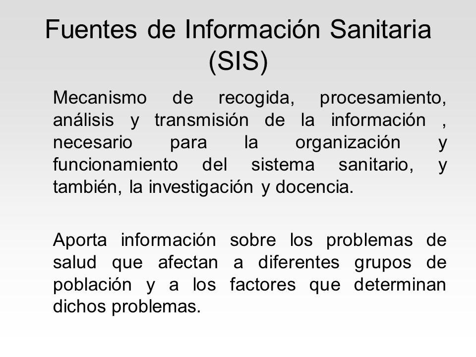 Fuentes de Información Sanitaria (SIS)