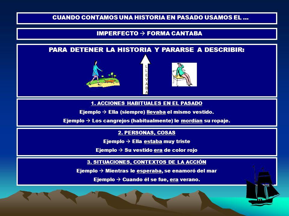 PARA DETENER LA HISTORIA Y PARARSE A DESCRIBIR: