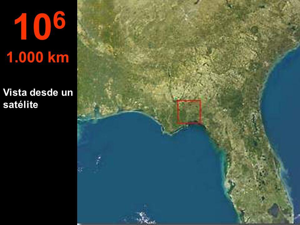106 1.000 km Vista desde un satélite