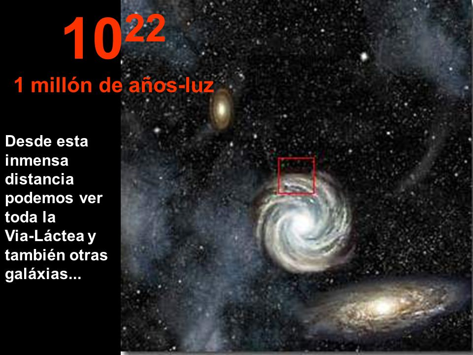 1022 1 millón de años-luz.