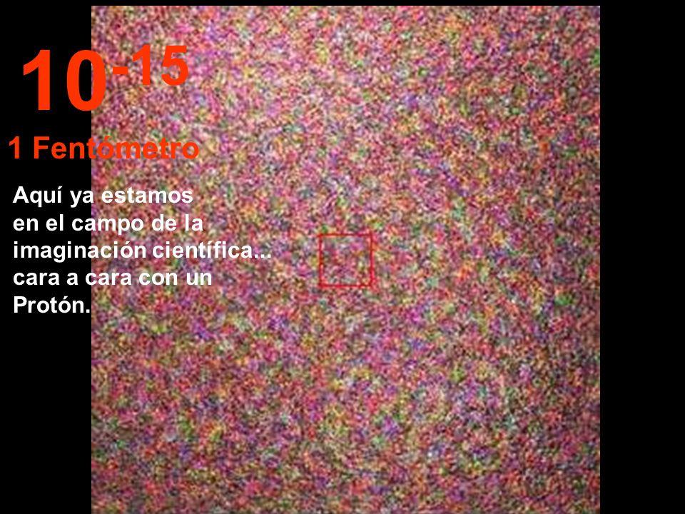 10-15 1 Fentómetro. Aquí ya estamos en el campo de la imaginación científica...