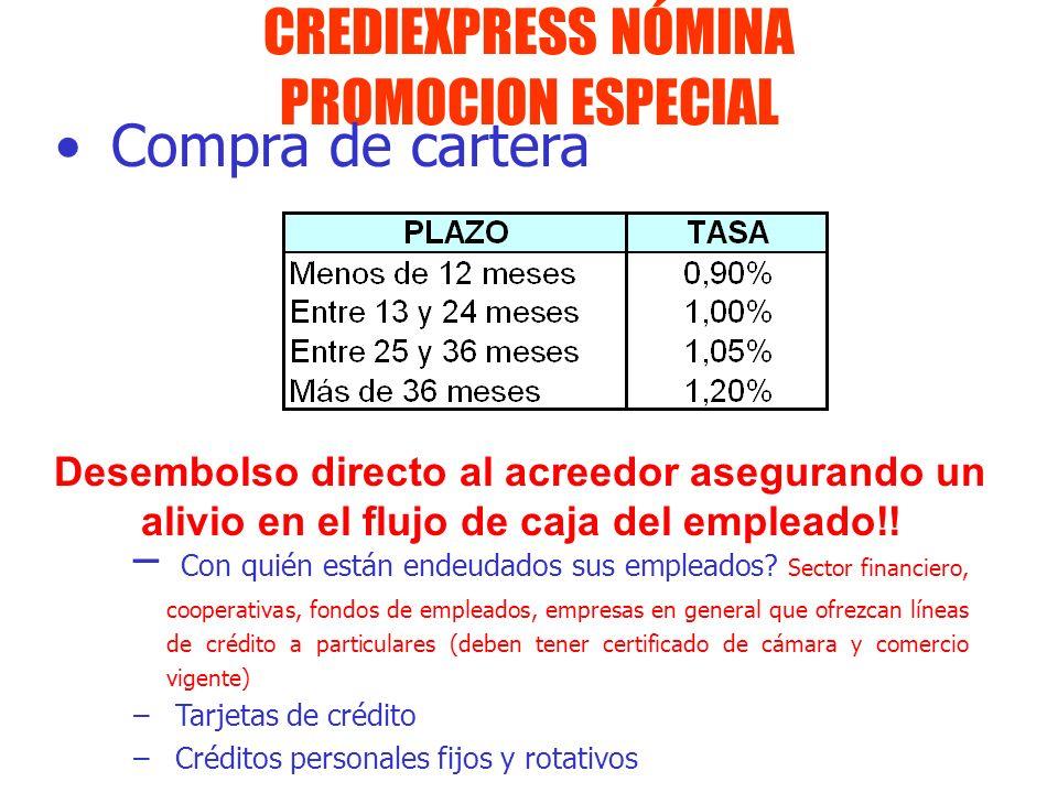 CREDIEXPRESS NÓMINA PROMOCION ESPECIAL