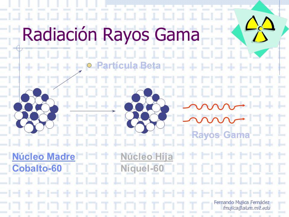 Radiación Rayos Gama Partícula Beta Núcleo Madre Cobalto-60