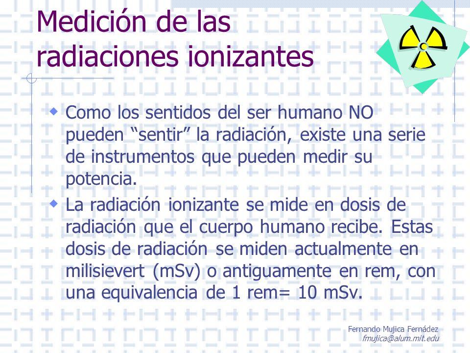 Medición de las radiaciones ionizantes