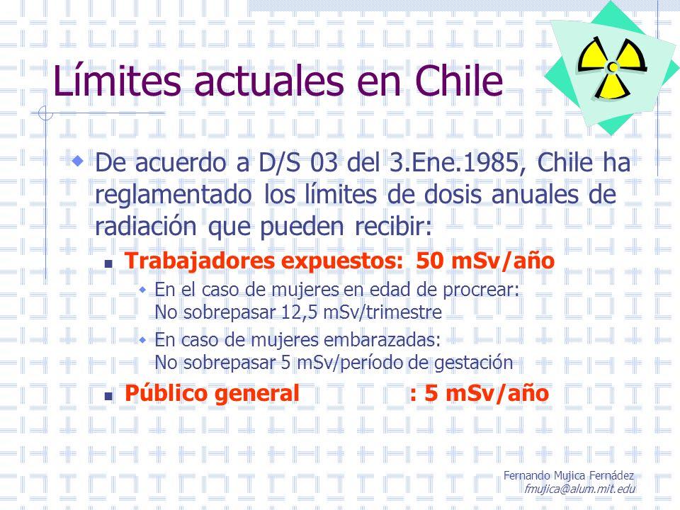 Límites actuales en Chile