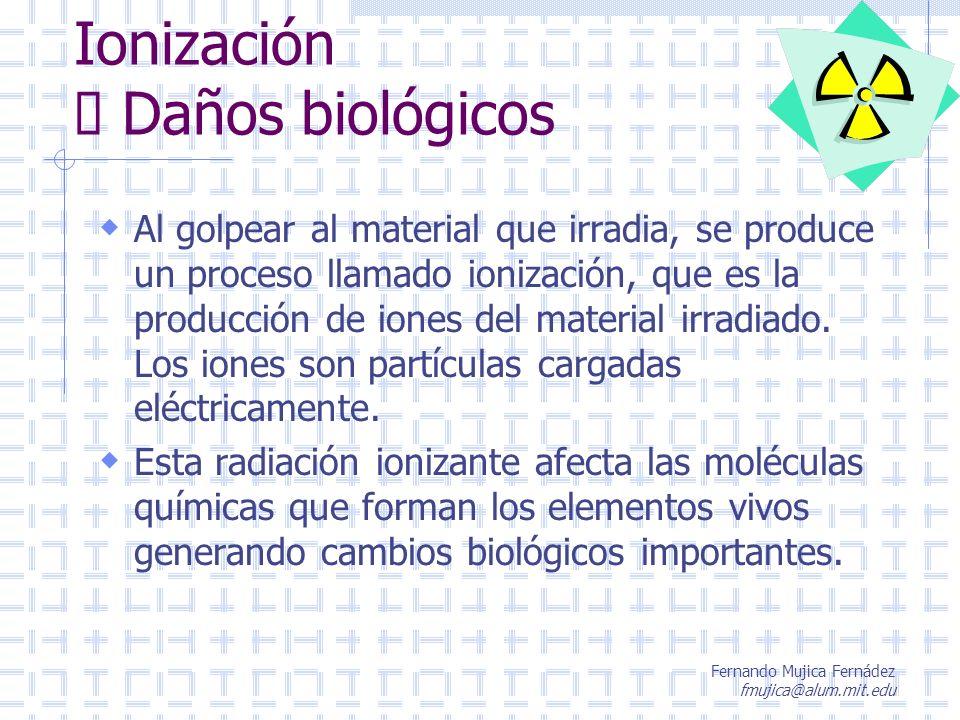 Ionización è Daños biológicos