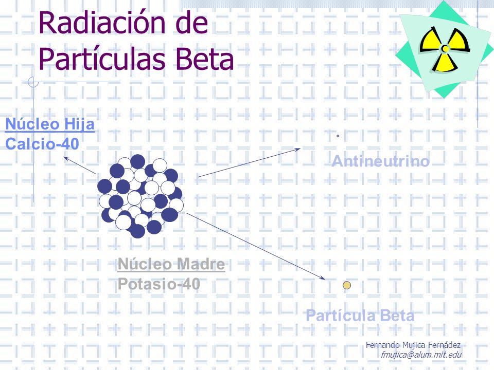 Radiación de Partículas Beta