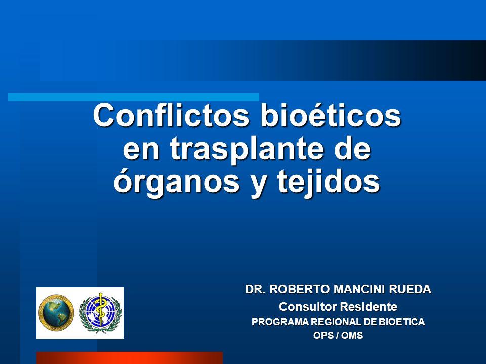 Conflictos bioéticos en trasplante de órganos y tejidos