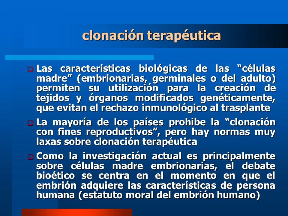 clonación terapéutica