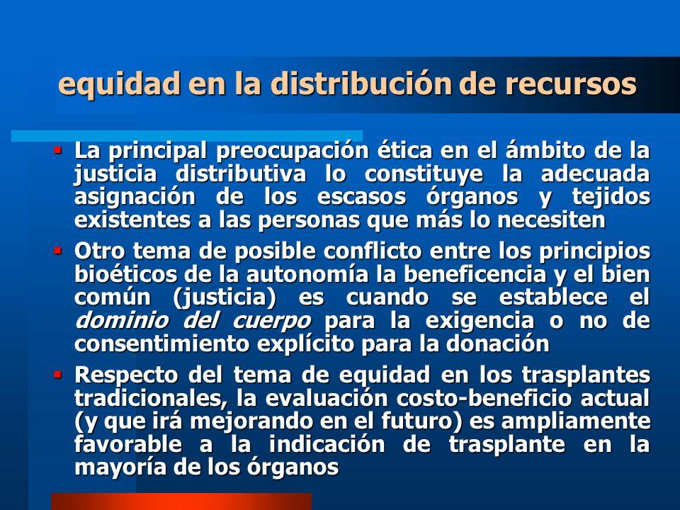 equidad en la distribución de recursos