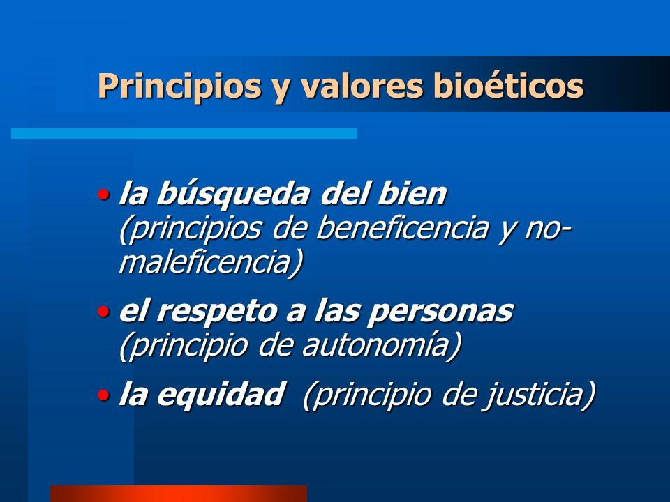 Principios y valores bioéticos