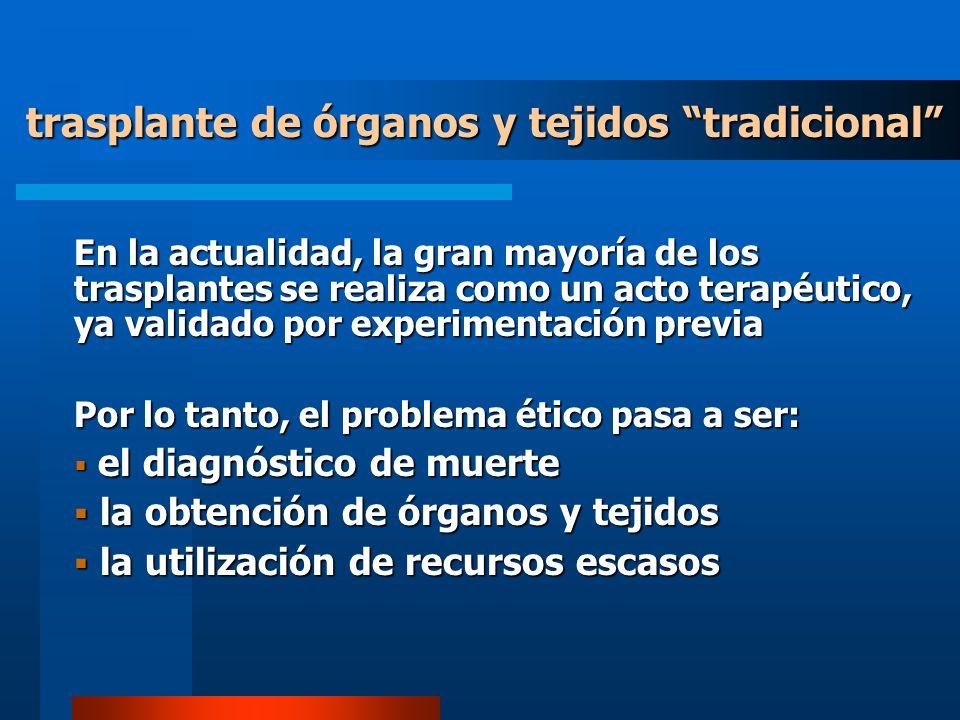 trasplante de órganos y tejidos tradicional