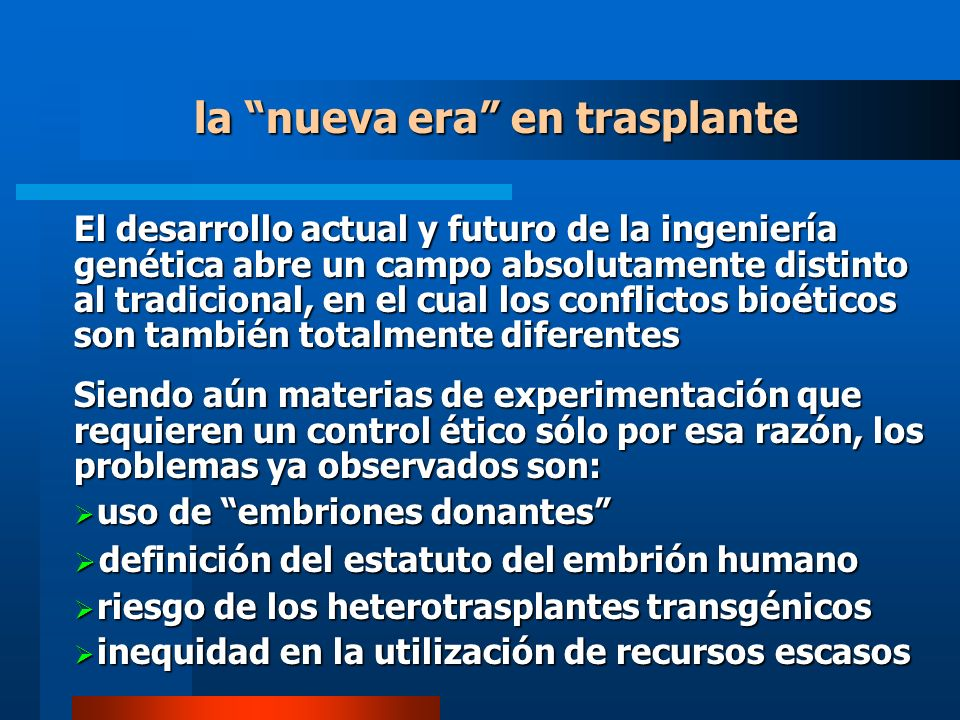 la nueva era en trasplante