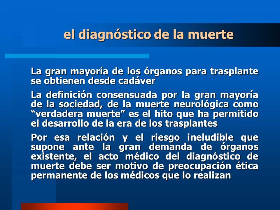 el diagnóstico de la muerte