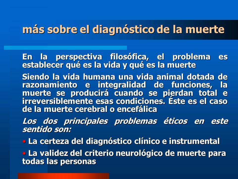 más sobre el diagnóstico de la muerte