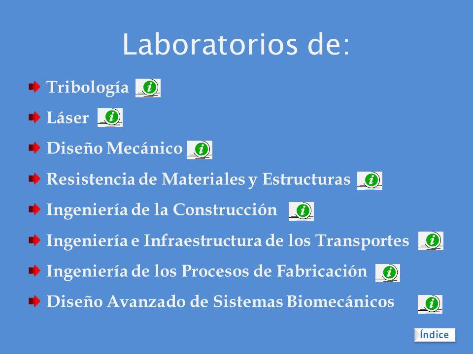 Laboratorios de: Tribología Láser Diseño Mecánico