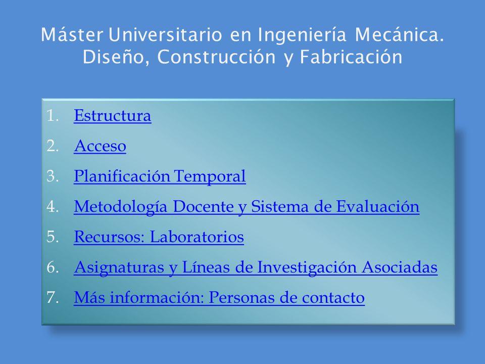 Máster Universitario en Ingeniería Mecánica
