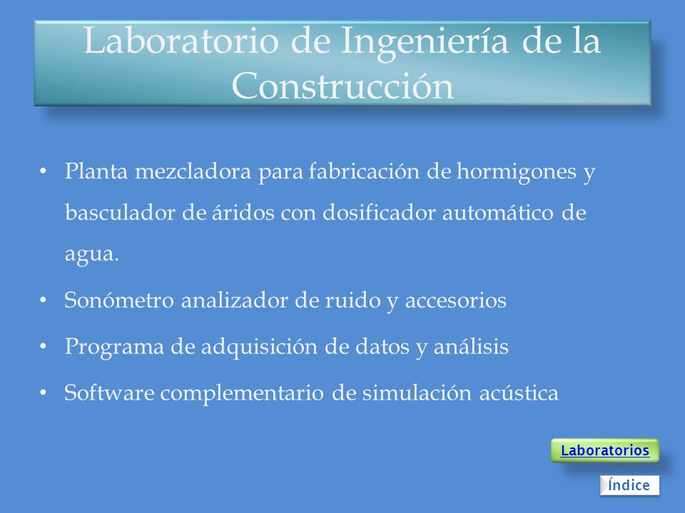 Laboratorio de Ingeniería de la Construcción