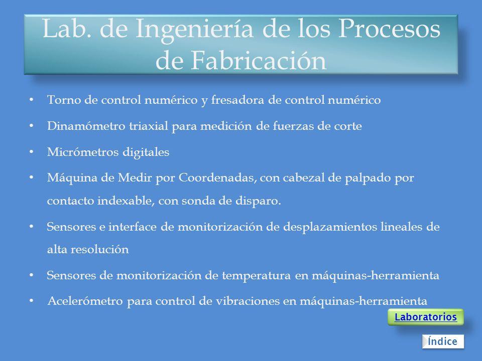 Lab. de Ingeniería de los Procesos de Fabricación