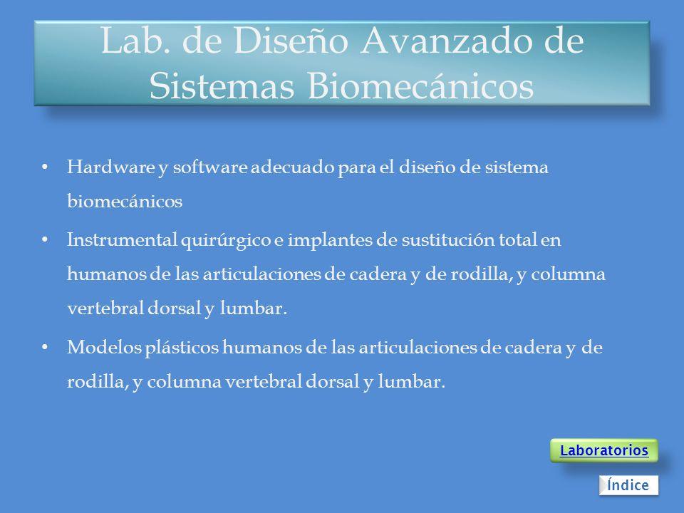 Lab. de Diseño Avanzado de Sistemas Biomecánicos