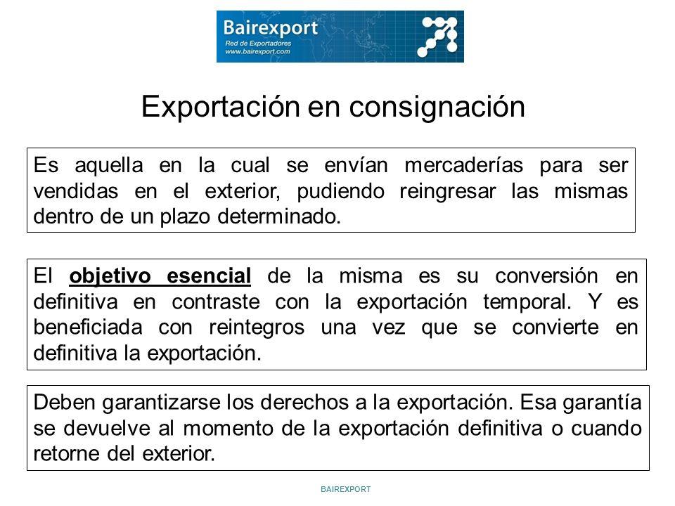 Exportación en consignación
