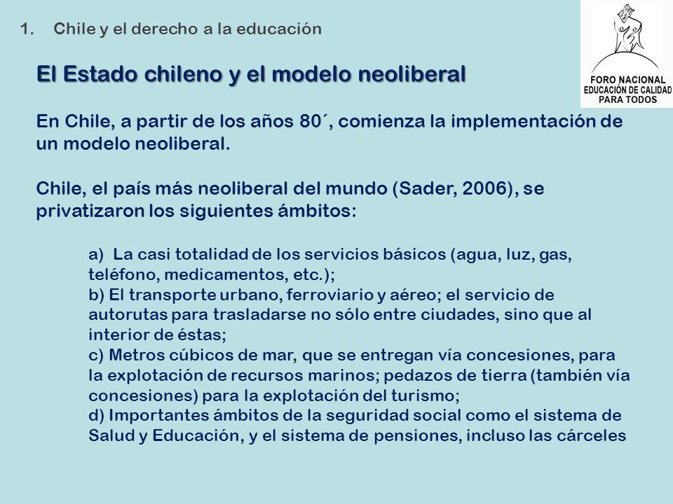 El Estado chileno y el modelo neoliberal