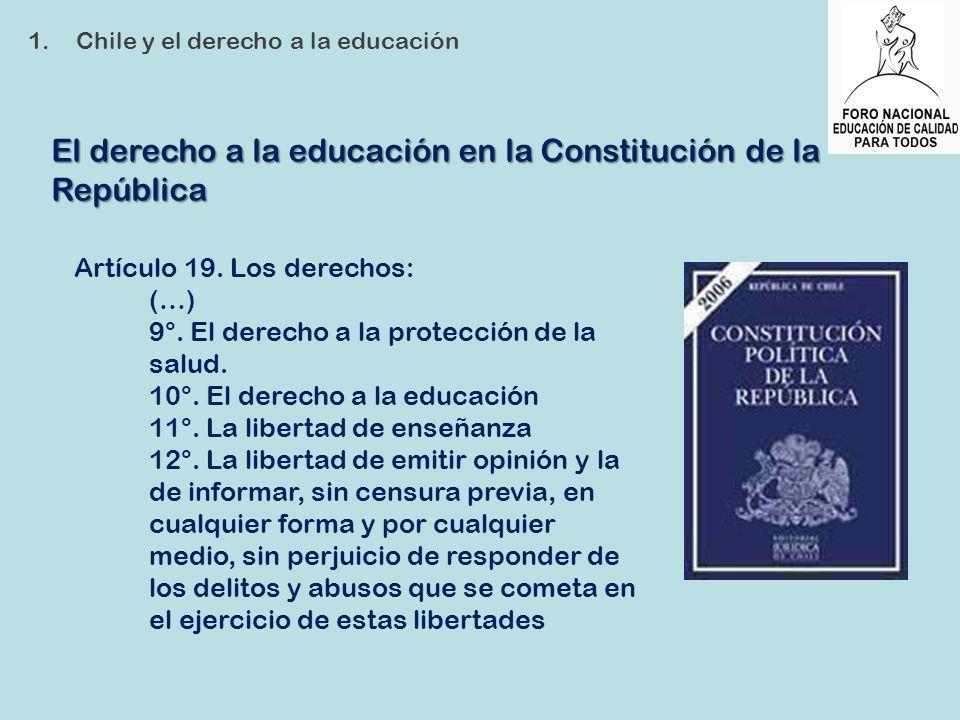 El derecho a la educación en la Constitución de la República