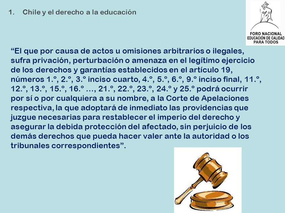 Chile y el derecho a la educación