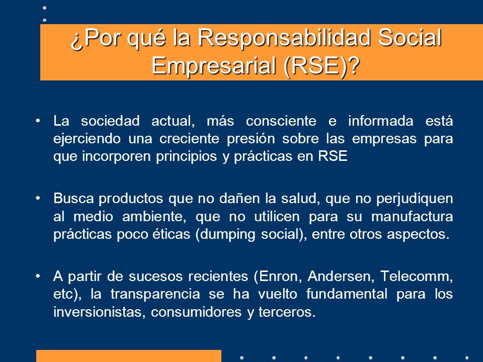 ¿Por qué la Responsabilidad Social Empresarial (RSE)