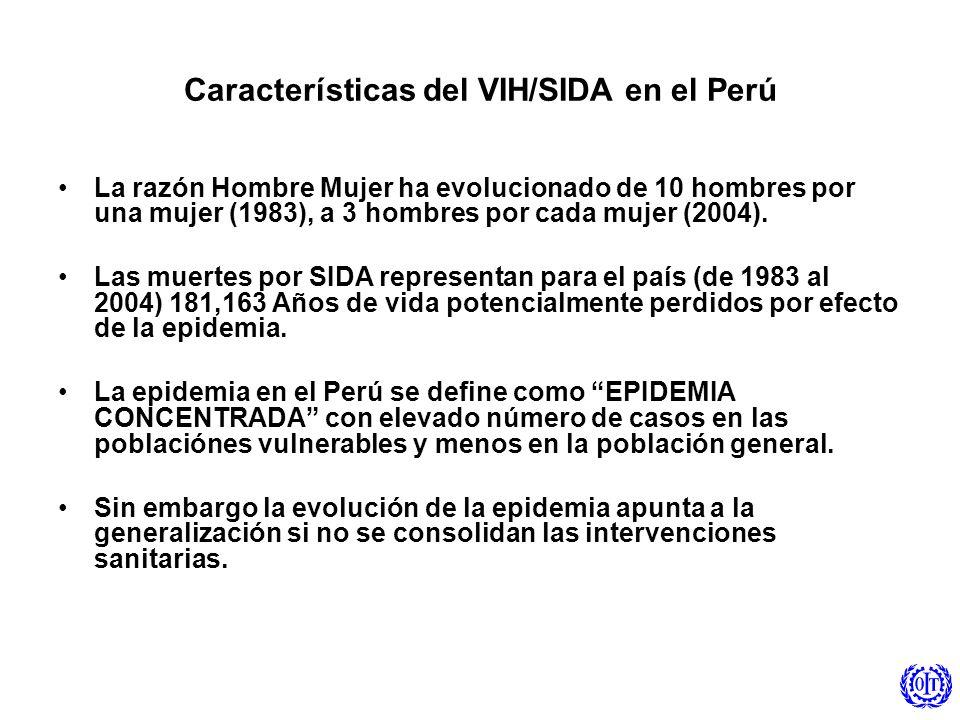 Características del VIH/SIDA en el Perú